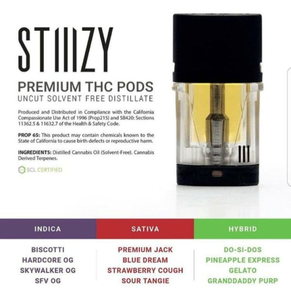 Stiiizy-Premium-THC-Pods | Sublime-Cartridge-Variety | Cannabis Express. On-demand Marijuana Delivery in San Francisco and Bay Area. Weed, fast. Medical and Recreational available.